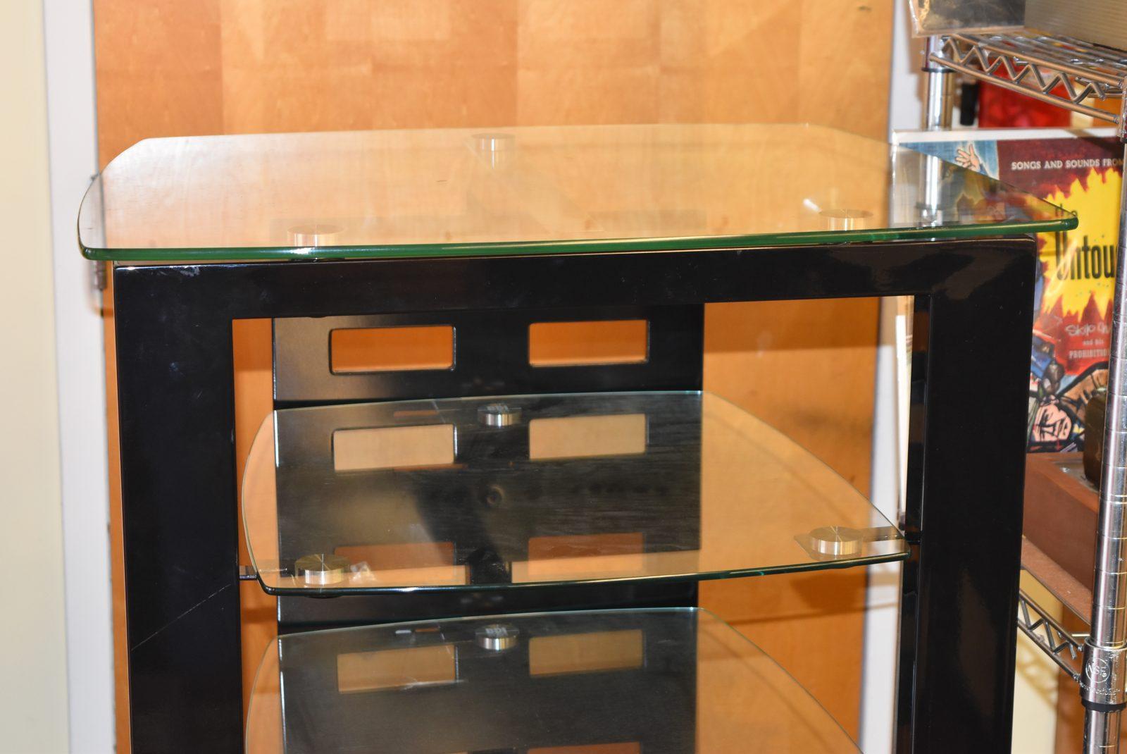 bdi glass sequel desk black in office w walnut wall natural pin cupboard furniture